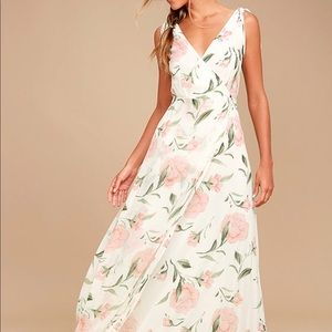 Lulus Romantic Possibilities Floral Maxi Dress